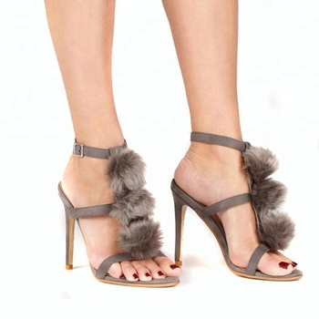 4f6dadfffd78 2018 made in China Stiletto high heel sexy woman sandals woman shoes with  fur