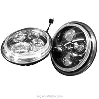 "DOT ECE SAE 12V 24V 7 Inch Round LED Headlight 7"" H4 Motorcycle LED Offroad Head Lamp"