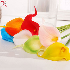 Real Touch Artificial Silk Flower bouquet Calla Lily stems