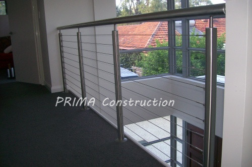 Stainless Steel Balustrade Wire Rope Railing System Cable Deck Railing