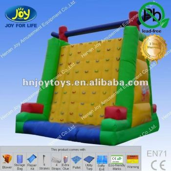 Inflatable plastic climbing wall