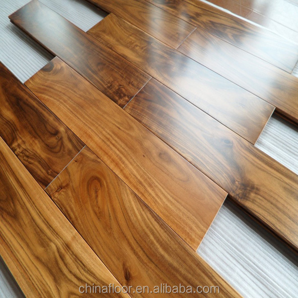 best selling Golden color small leaf Acacia solid wood flooring