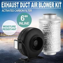 6 POLLICI Duct Fan Air Blower Kit Filtro a Carbone