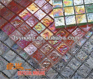 flower mosaic tile mosaic glass mesh tiles for home decorate