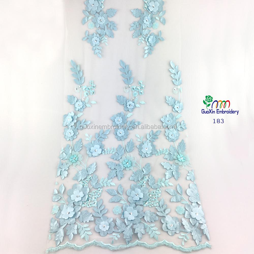 Venta al por mayor telas bordadas para vestidos de novia-Compre ...