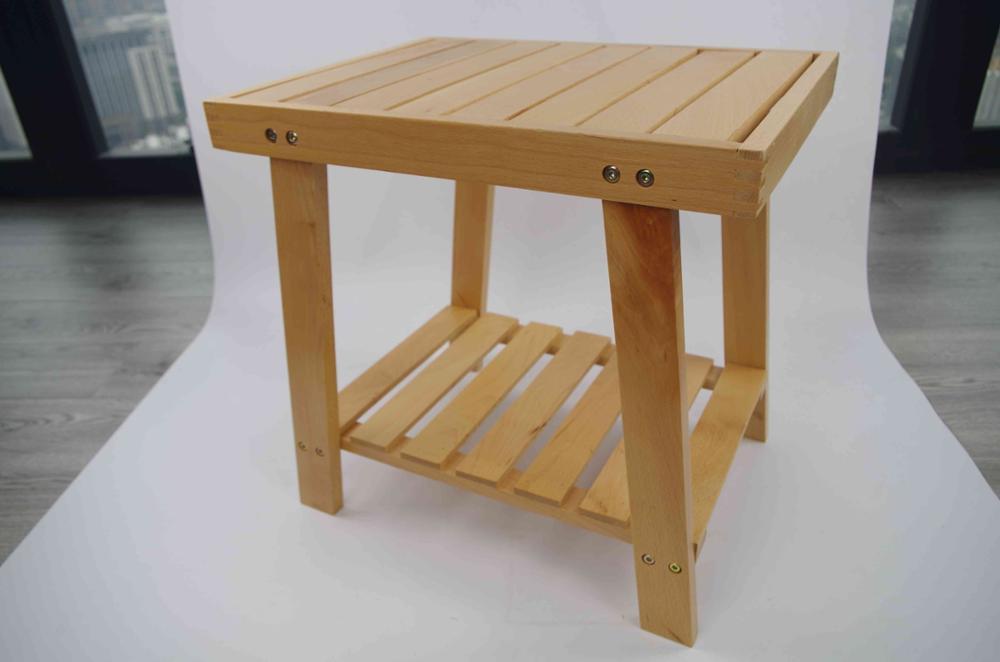 Sedia di legno di disegno semplice durevole di legno sgabello