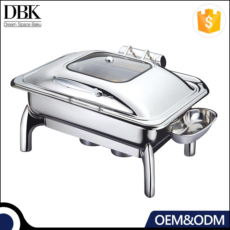 DBK factory price commercial kitchen buffet chafing dish with hollow steel legs