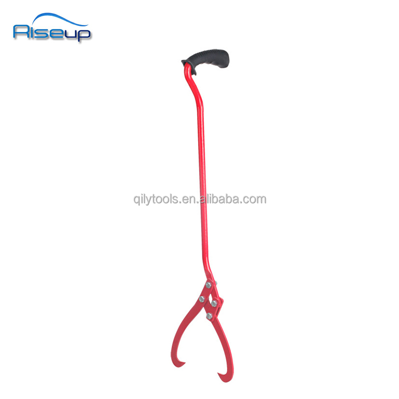 Forestry Tool Wood log pick up tool firewood tong metal or ice tongs 1 hand use