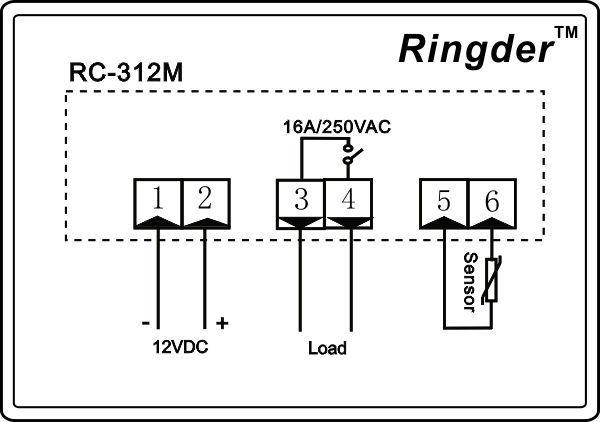 Rc 312m Temperature Controller 12v Dc View Temperature