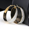 Fashion simple round design earrings Gold Color And Sliver Color wholesales JQ-004
