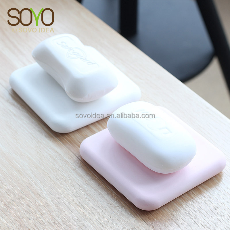 Square Fast Water Absorption Antifungal Eco-friendly Bathroom Diatomite Soap Holder