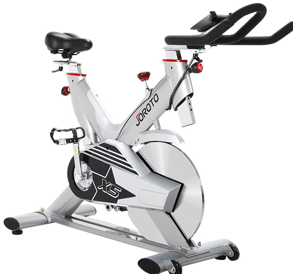 Exercise Bike Indoor Cycle Trainer - JOROTO X5 Professional Workout Cycling Bicycle Exercise Stationary Bike Machine for Home Cycle