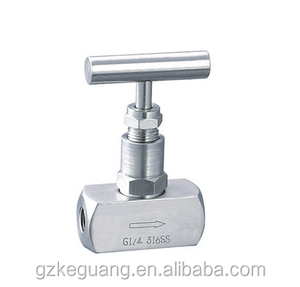 Stainless steel ball valvenon return angle control needle valve