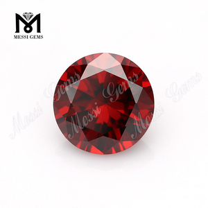 Wholesale cheap price synthetic red garnet cubic zirconia stone