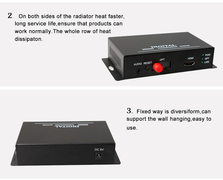1080p Hd Video & Audio Hdmi Fiber Optical Video Converter