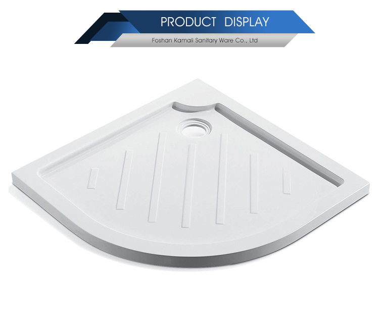 Germany CORAIN Normal Design Foshan Factory Price Sector Shape Artificial Stone Shower Base for Shower Room, Shower Tray