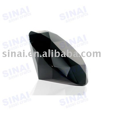 Black Crystal Table Diamonds Paperweight