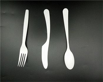 Biodegradable PLA Disposable Spoon and Fork