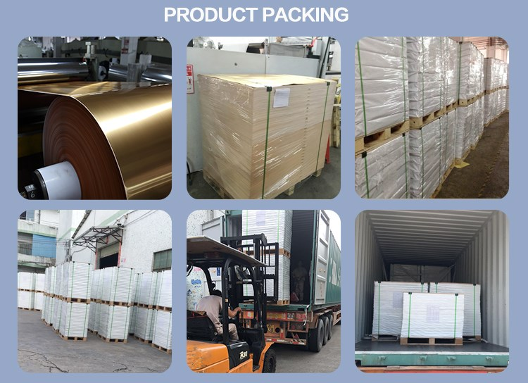 Paper Factory Customized Silver PET Metallized Paper For Offset Printing