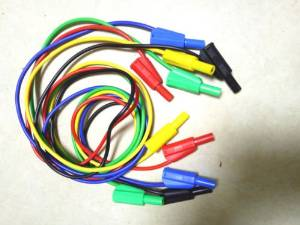 20PCS 5 color Test Cable silicone Voltage 4mm Banana plug TO 4mm Banana plug
