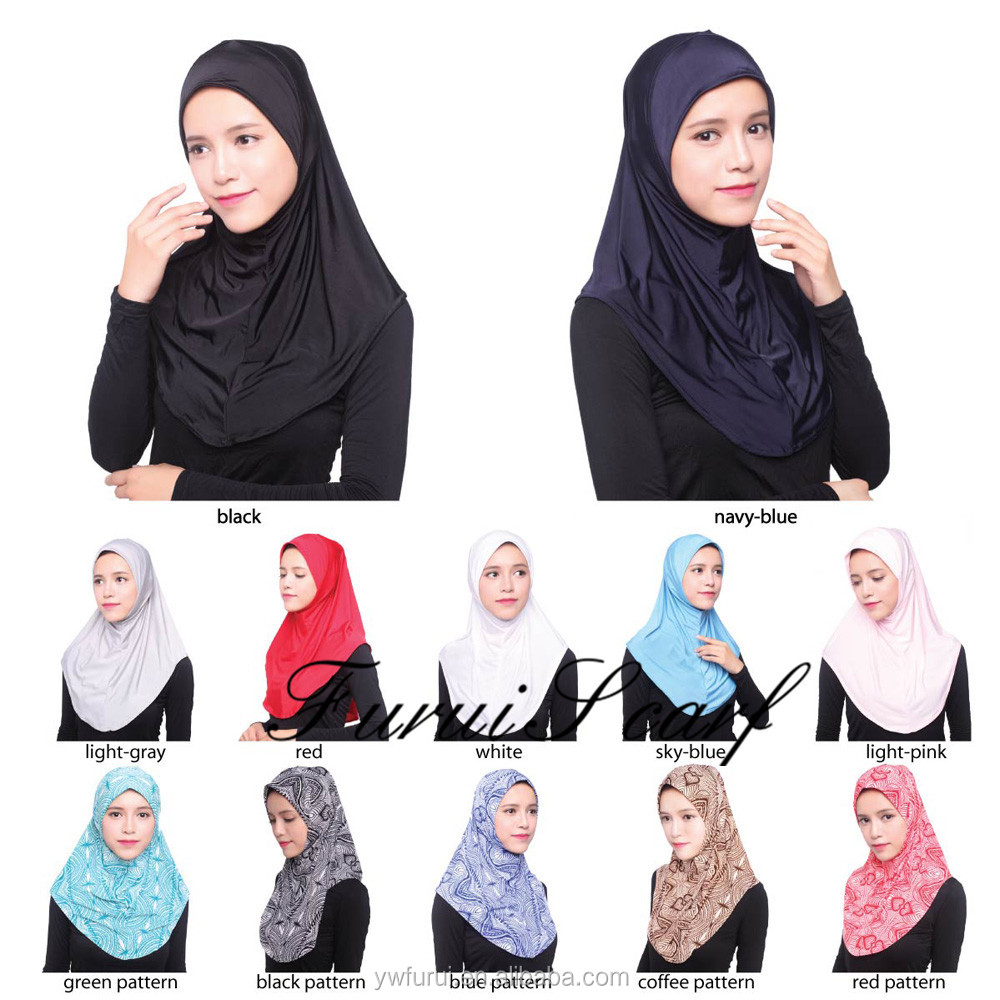 New Fashion Ice Silk Print Color Big Size Comfortable Women Shawls Wraps Long Hijab Scarves Muslim HeadScarf