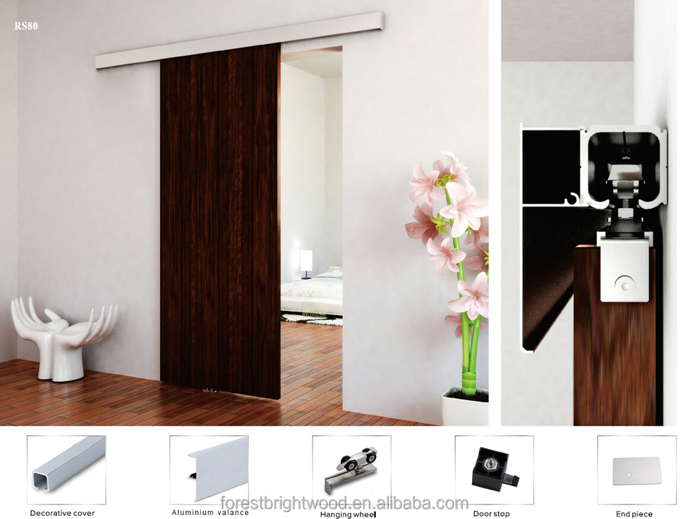 Solid Wooden Sliding Closet Door Dining Room