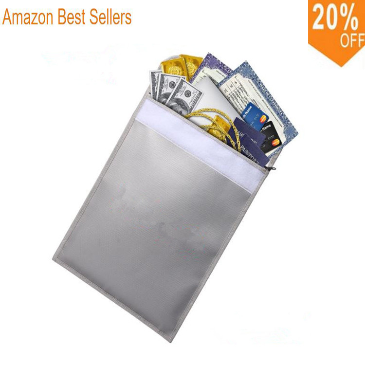 Hot Ing Fireproof Doent Bag 15 X 11 Fire Resistant For Money Doents Jewelry