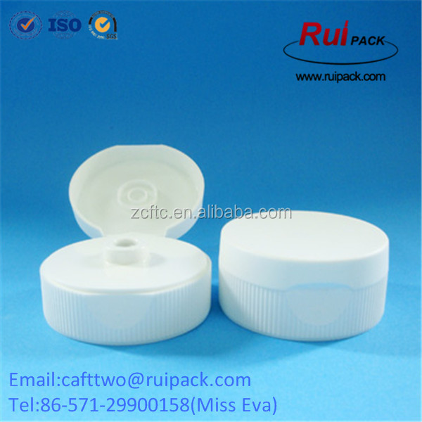 Food Grade 38-400 double layer flip top cap with silicone valve
