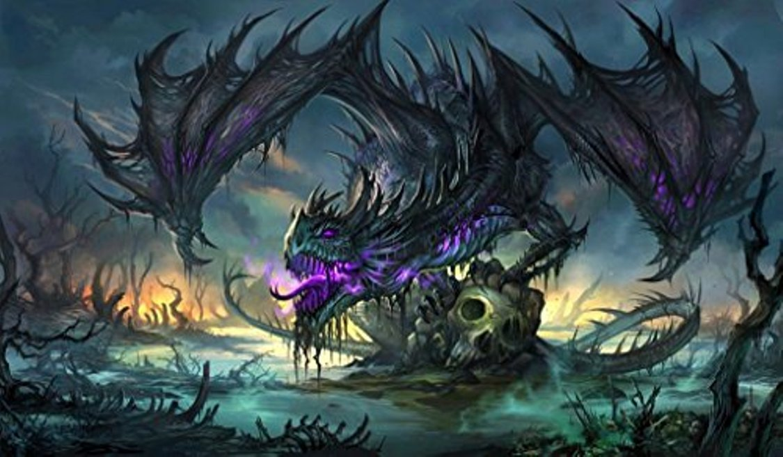 Buy Zombie Dragon Tcg Playmat Gamemat 24 Wide 14 Tall For Trading