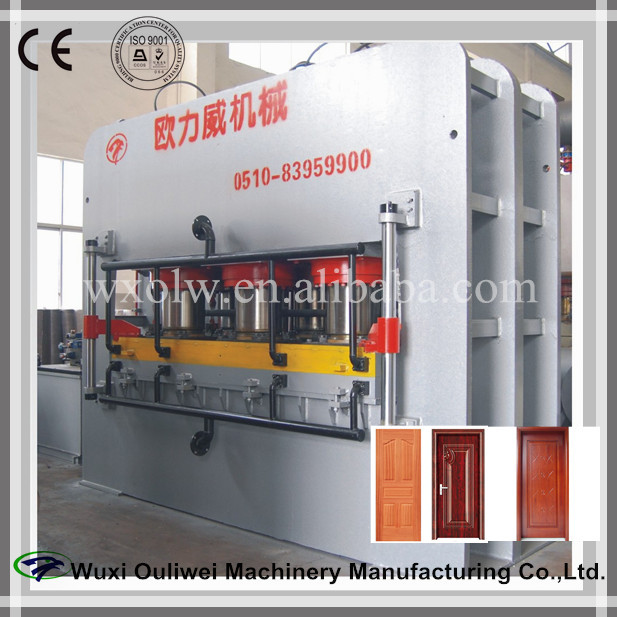 1200T wood door laminating press machine/door skin hot/heat press