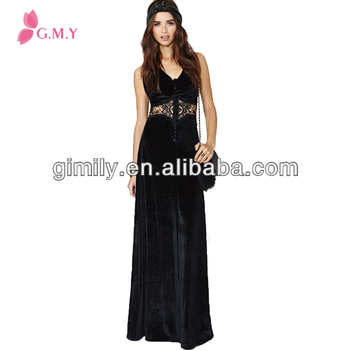 Korean Style Women Sexy Transparent Tight Long Black Prom Dress