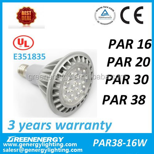 16W 20W 26W led par38 IP65 for option led bulb TUV CE UL led spot light replace 30-70W metal halide
