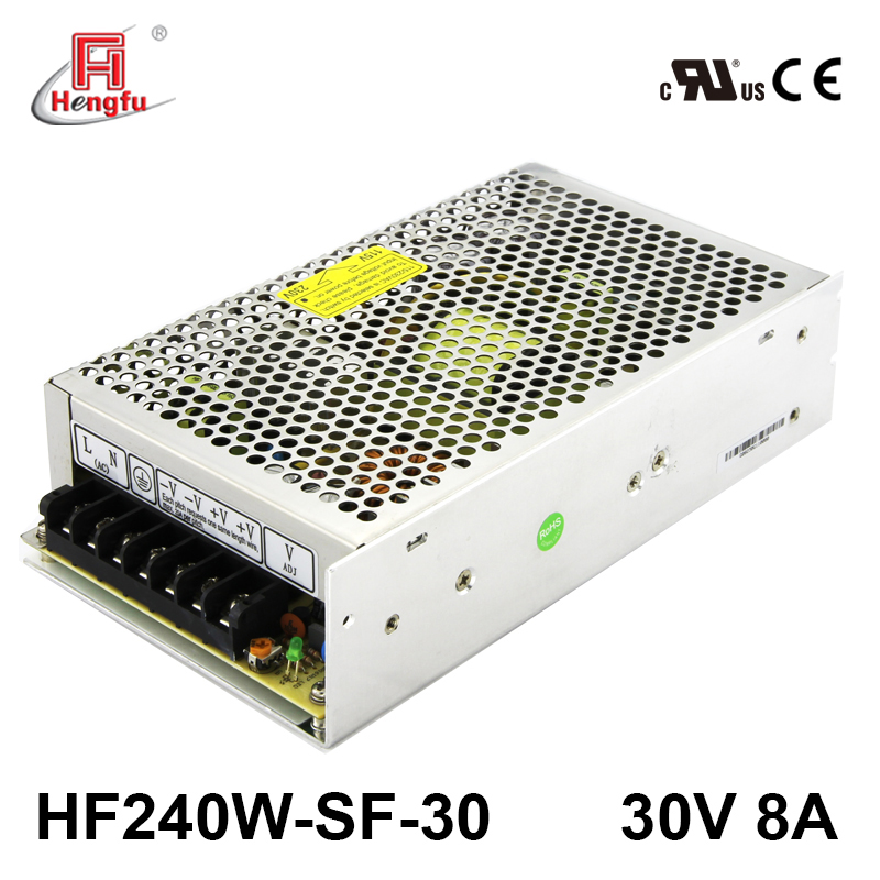 30V 8A Hengfu HF240W-SF-30 SMPS single output AC DC UL CUL CE switching power supply