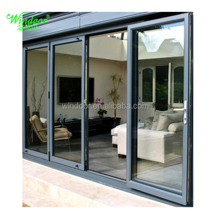Cheap price big glass doors for Pro-jected buildings of residential and office