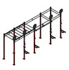 cross fitness wall mounted rack gym equipments