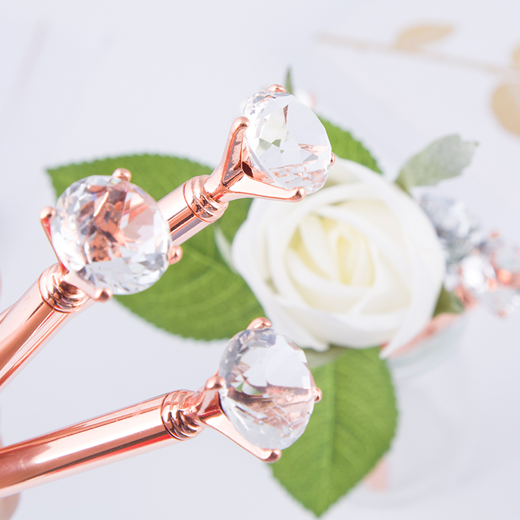 2018 Name Printed Wholesale Elegant Wedding Gift Crystal Metal Pen