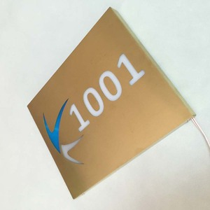 316# stainless steel electroplate gold metal led door signage/plate/plague