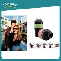Toprank bulk custom color innovative blank travel mugs wholesale collapsible silicone coffee mug