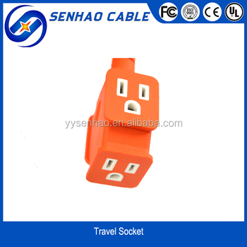 UL 3-way plug /socket