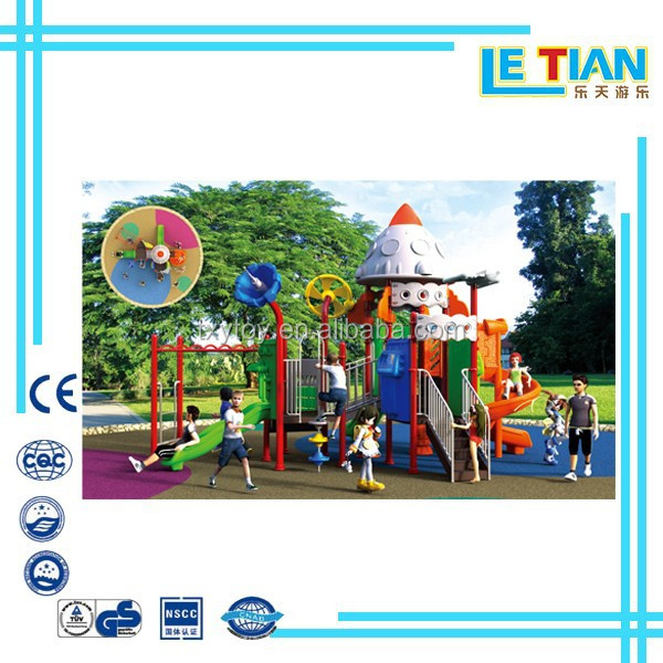 Guangzhou High Quality and Unique Children Outdoor Playground slide Toys LT-5015A
