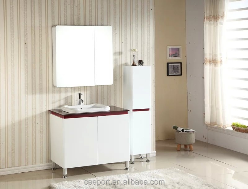 Moden hoting selling Pink mesa bathroom furniture cabinet vanity tops extensions