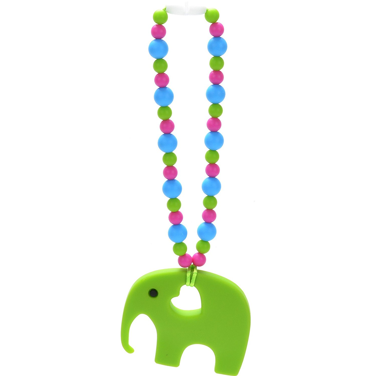Get Quotations · Nummy Beads Green Elephant Baby Carrier Teether Teething Accessory Toy