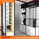 optical frame display case rack wall with optical shop decoration