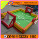 Promotion plastic soccer field/inflatable football court/Inflatable soap football pitch