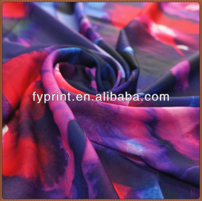 Custom Design Print Factory Direct Upholstery Poly Velvet Satin Fabric For Garment