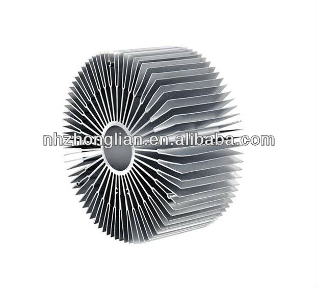 round aluminium heatsinks extrusion profiles/Aluminum Extrusion round heat sink