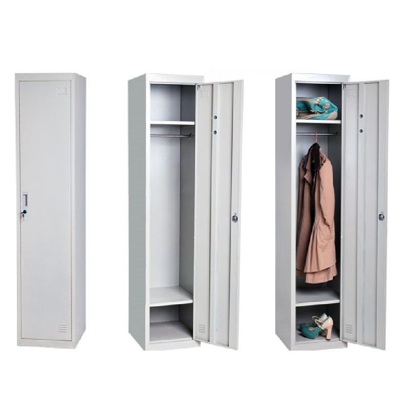 Single Door Wardrobe / Iron Clothes Wardrobe / Bedroom Hanging ...