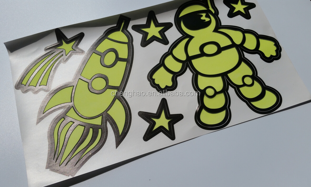 printing removable vinyl sticker glow in the dark