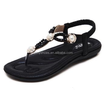 92b51d75ec6b 2018 Women Ladies Shining Sandal Thong Fancy Flat Sandals - Buy ...