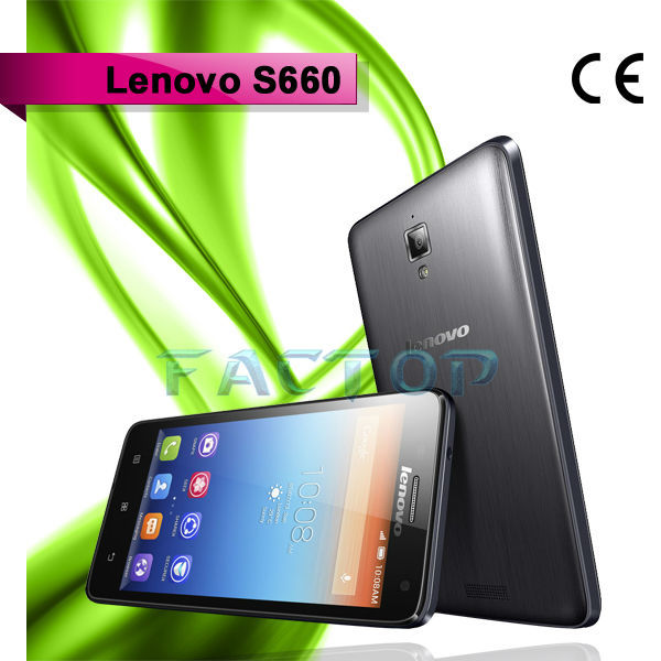 lenovo s660 ram 1gb rom 8gb android 4.2 three sim cards smart phone hot sale